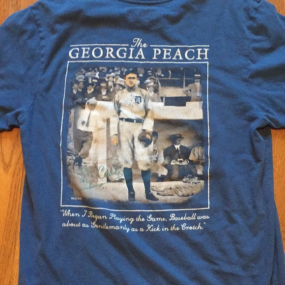 Georgia The Peach State USA University Sport Short Sleeve T-Shirt Tees Tshirts